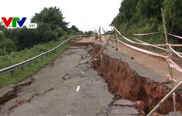 Bình Thuận khẩn trương khắc phục sạt lở tuyến quốc lộ 28B