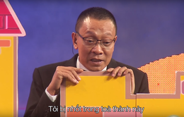 Nhà báo Lại Văn Sâm bất ngờ hóa… công chúa yếu đuối trên sân khấu Mặt trời bé con