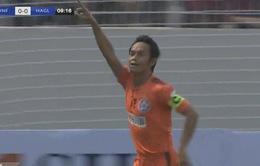 KẾT THÚC, SHB Đà Nẵng 1-0 HAGL: Vũ Phong ghi bàn thắng duy nhất giúp SHB Đà Nẵng giành 3 điểm