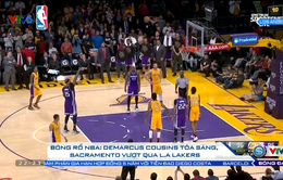 Bóng rổ NBA: Demarcus Cousins tỏa sáng, Sacramento vượt qua L.A Lakers