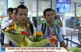 Đoàn thể thao người khuyết tật Việt Nam về nước sau thành công tại ASEAN Para Games 9