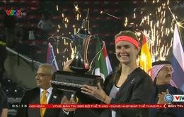 Chung kết giải quần vợt Dubai Championships: Elina Svitolina có danh hiệu lớn đầu tiên trong sự nghiệp