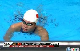VIDEO SEA Games 29: Ánh Viên giành HCV bơi 400m hỗn hợp cá nhân nữ