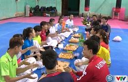 Buổi tập đặc biệt của các nữ võ sĩ Taekwondo
