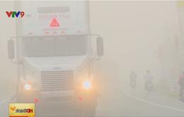 Sương mù xuất hiện dày đặc tại Cần Thơ