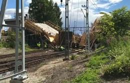 Sập cầu đang xây ở Thụy Điển, 12 người bị thương