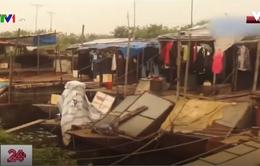 Cư dân xóm mặt nước ven sông Hồng lên bờ, yên tâm lao động sản xuất