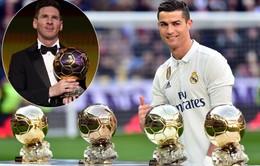 01h45 ngày 08/12, trao giải QBV 2017: Chờ Ronaldo cân bằng thành tích của Messi