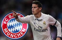Chuyển nhượng bóng đá quốc tế ngày 11/7/2017: James Rodriguez đầu quân cho Bayern Munich