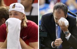 Tay vợt Canada đánh bóng vào mặt trọng tài chính thức nhận án phạt