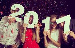 Mạng xã hội tưng bừng chào đón năm mới 2017