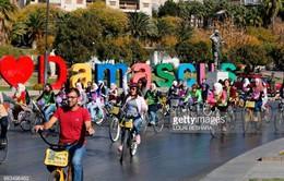 Hơn 200 phụ nữ Syria đạp xe phản đối tình trạng quấy rối bằng lời nói
