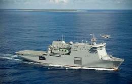 Tàu tên lửa của hải quân New Zealand đến Đà Nẵng