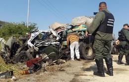 Xe bus đối đầu xe trộn bê tông tại Venezuela, 66 người thương vong