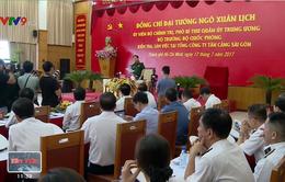 Bộ trưởng Bộ Quốc phòng làm việc tại Tân cảng Sài Gòn