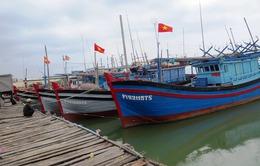 Quảng Trị: Cửa biển cạn, nhiều tàu cá nằm bờ