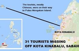 Thuyền chở 31 du khách mất tích ngoài khơi Malaysia