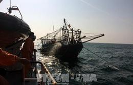 Cứu kịp thời tàu cá HP 9072 TS bị thủng và 4 thủy thủ đoàn