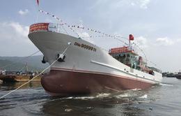 Đà Nẵng: Hạ thủy tàu hậu cần nghề cá vỏ thép lớn nhất miền Trung