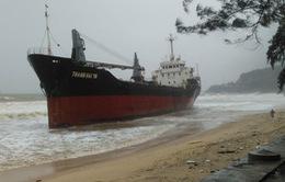 Khắc phục việc tràn dầu từ các tàu hàng bị chìm do bão số 12