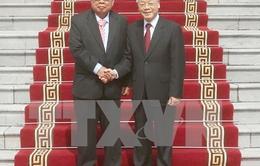 Lãnh đạo nước ta gửi hoa và điện mừng tới Tổng Bí thư, Chủ tịch nước Lào Bounnhang Volachith