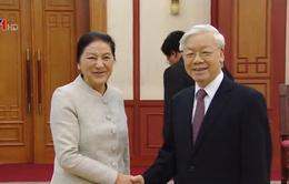 Tổng bí thư Nguyễn Phú Trọng tiếp Chủ tịch Quốc hội Lào
