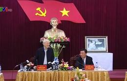 Tổng Bí thư thăm và làm việc tại Nam Định