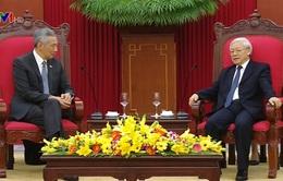 Tổng Bí thư tiếp Thủ tướng Singapore