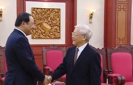 Tổng Bí thư tiếp Phó Thủ tướng Lào