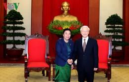 Tổng Bí thư Nguyễn Phú Trọng tiếp Đoàn Đại biểu Ban Đối ngoại Trung ương Lào
