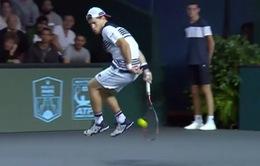 Những pha bóng khó tin tại Paris Masters