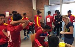 Ảnh: Tuyển thủ U20 Việt Nam hoàn thành bài kiểm tra y tế tại Düsseldorf