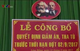 Lâm Đồng giảm án, tha tù cho 19 phạm nhân dịp 2/9