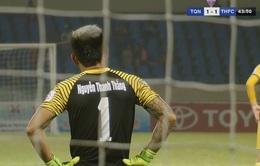 VIDEO: Bàn thua hy hữu đến từ sai lầm khó tin của thủ môn Thanh Thắng (FLC Thanh Hóa)