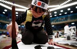 Viết thư pháp mừng năm mới ở Nhật Bản
