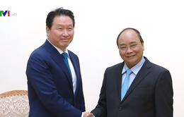 Thủ tướng Nguyễn Xuân Phúc tiếp Chủ tịch Tập đoàn SK, Hàn Quốc