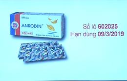 Đình chỉ lưu hành thuốc viên nén Anrodin tại TP.HCM