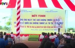 Phú Yên: Mít tinh hưởng ứng ngày Thế giới không thuốc lá