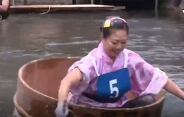 Khám phá cuộc thi chèo thúng gỗ tại Nhật Bản