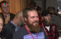 Độc đáo cuộc thi tỉa râu ở Thụy Điển