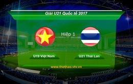 VIDEO: Tổng hợp diễn biến hiệp một U19 Việt Nam 3-2 U21 Thái Lan