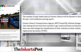 Jakarta (Indonesia) giới hạn taxi hoạt động qua ứng dụng từ 1/4