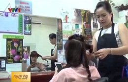 Tiệm tóc của cô dâu Việt tại Đài Loan