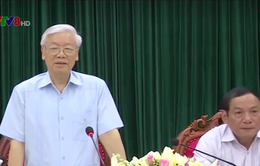 Tổng Bí thư Nguyễn Phú Trọng làm việc với cán bộ chủ chốt Quảng Trị