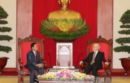 Tổng Bí thư tiếp đoàn Văn phòng Trung ương Đảng NDCM Lào