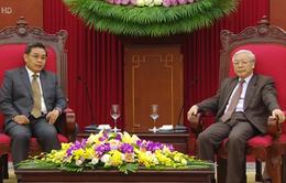 Tổng Bí thư tiếp Chủ tịch Mặt trận Lào Xây dựng đất nước