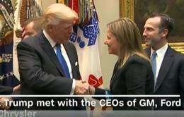 Tổng thống Trump gặp gỡ nhà sản xuất xe hơi hàng đầu Mỹ