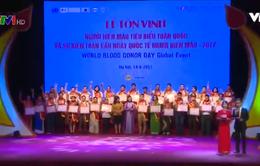Tôn vinh người hiến máu tiêu biểu toàn quốc