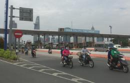 Tháo dỡ trạm thu phí qua hầm Thủ Thiêm (TP.HCM) trước Tết Nguyên đán 2018