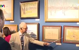 """Triển lãm """"Kỷ niệm một thời Xô Viết"""" quy tụ 100 tác phẩm tranh sơn dầu và màu nước"""